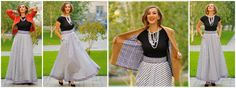 Pearls and diamonds are yet a girls best friend! But a long skirt will do until all the others are in place. this versatile creation that fits any occasion! Maxi Dresses, Dress Skirt, Girls Best Friend, Diamonds, Dresses For Work, Pearls, Elegant, Chic, Stylish