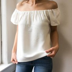 •Atid Carmine Top• Atid Top•100% Cotton•Off shoulder Top•Color is off white-ivory•Fully lined• Smoke Free/Pet friendly Home• Atid Clothing Tops Blouses