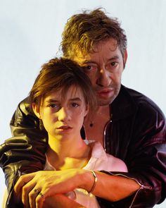 Charlotte Gainsbourg and Serge Gainsbourg shot by Jean-Luc Buro on the set of her video for her album Charlotte Forever 1986 (Kipa/Corbis)   esess1974.co.uk