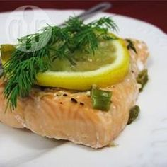 Garlic and Dill Steamed Salmon @ allrecipes.com.au