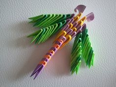Etsy の 3d Origami Dragonfly magnet by akvees