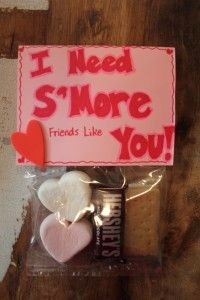 S'mores Valentine's treats your kids' friends will surely love | ShaunaGlenn.com    This is such a cute idea! I'm a firm believer in that friends should be honored on Valentine's Day as well as romantic relationships. My girlfriends love me no matter what, and something like this would be a small token of my appreciation for them. #fabrikvdaydate