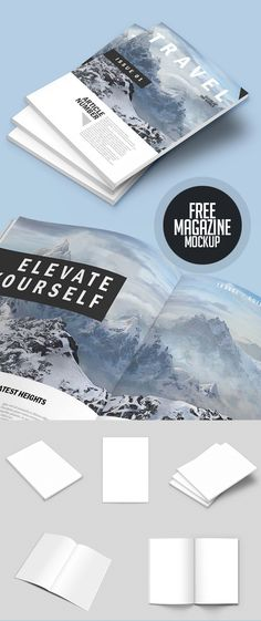 Fresh free psd mockups design templates are perfect for presentation. New highest quality mockup templates are available free for commercial and personal Magazine Template, Magazine Format, Magazine Layouts, Design Magazine, Mise En Page Web, Tool Design, Design Design, Design Elements, Free Photoshop