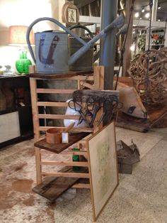 Owl Barn Farm Studio - Vintage Watering Cans and Vintage Upholstery Scissors