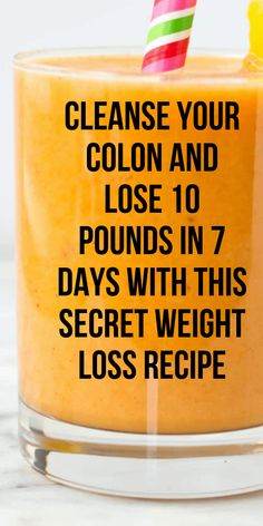 Cleanse Your Colon And Lose 10 Pounds In 7 Days With This Secret Weight Loss Recipe - Natural Home Remedies Weight Loss Meals, Weight Loss Challenge, Weight Loss Drinks, Weight Loss Tips, Stomach Weight Loss, Slim Stomach, Weight Loss Smoothie Recipes, Weight Loss Cleanse, Health Tips