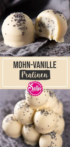 MOHN-VANILLE-PRALINEN / SALLYS WELT In this recipe, I'll show you how to easily and quickly make even super delicious chocolates. You only need a few ingredients and a little sensitivity. Pumpkin Spice Cupcakes, Mini Cupcakes, Dessert Nouvel An, Chocolate Bourbon, Few Ingredients, How To Make Chocolate, Delicious Chocolate, Fall Desserts, Cream Recipes