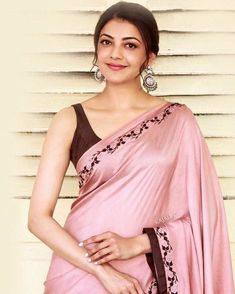 30 Cutest Kajal Aggarwal Images and Wallpapers Saris, Indian Dresses, Indian Outfits, Kajal Agarwal Saree, Bollywood Designer Sarees, Simple Sarees, Plain Saree, Stylish Sarees, Elegant Saree