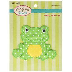 Frog Fabric Iron-On