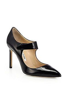Manolo Blahnik - Volvini Patent Leather Mary Jane Pumps