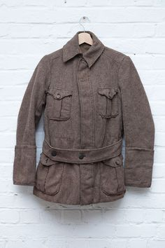 1940's french wool hunting jacket