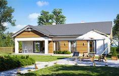 Projekt domu Parterowy 4 122,77 m2 - koszt budowy 207 tys. zł - EXTRADOM Gazebo, House Plans, Sweet Home, Outdoor Structures, How To Plan, Outdoor Decor, Home Decor, Blueprints For Homes, Homemade Home Decor