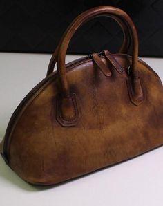 Handmade Leather handbag shoulder bag brown purple for women leather crossbody bag