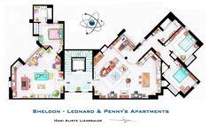 Floorplans of popular TV show homes!