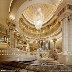 Exquisite Massive #WhiteandGold Luxury Foyer