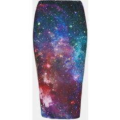 Topshop 'new Cosmic' Print Tube Skirt ($56) ❤ liked on Polyvore