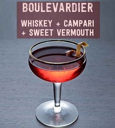 17 Three-Ingredient Cocktails You Should Know How To Make: boulevadier