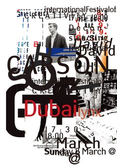 David Carson poster design II for upcoming speaking engagement in Dubai.  email list: www.davidcarsonart.com