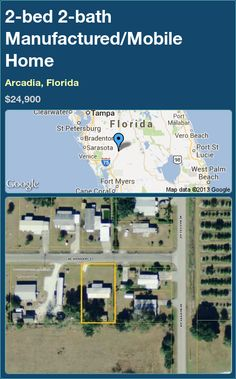 2-bed 2-bath Manufactured/Mobile Home in Arcadia, Florida ►$24,900 #PropertyForSale #RealEstate #Florida http://florida-magic.com/properties/15155-manufactured-mobile-home-for-sale-in-arcadia-florida-with-2-bedroom-2-bathroom