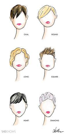 14f905b636143d Mes illustrations - La coupe de lutin adaptée à la forme de votre visage   adaptee