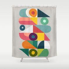 Tick Tock Machine Shower Curtain