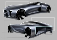 Revival for the French brand Delage in 2020 - Exterior Design Project Futuristic Cars, French Brands, Car Sketch, Shape Design, Exterior Design, Design Projects, Concept, Behance, Wheels