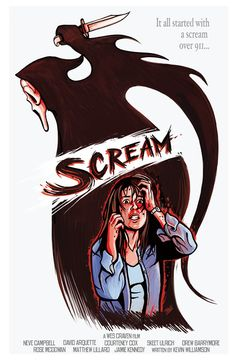PLUG ALERT! PLUG ALERT! One of my early attempts at movie poster art. This is for one of my fave movies of all time, Wes Craven's Scream. Inspired by all the movie poster artist's that I've found online this past year or so, I wanted to do my own take on a film. Tried to steer clear of using standard film screen grabs and rendering them straightforward-like. Also, workin' the hand drawn font in there. Hope yall enjoy! What's your favorite scary movie?