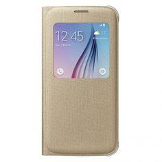 Funda Original Samsung Galaxy S6 Tela S View Dorada 39,99 €