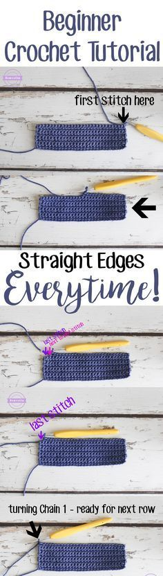How to get straight edges every time | A crochet tutorial by Sewrella