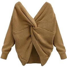 Fashion Sexy Tie Back Women Sweater Knitted Pullover Tops Fashion Female Autumn Winter Costume Women Autumn Clothes Long Sleeve Crop Top, Long Sleeve Sweater, Jumpers For Women, Sweaters For Women, Autumn Jumpers, Casual Sweaters, Women's Sweaters, Deep, Batwing Sleeve