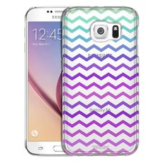 Samsung Galaxy S6 Pink to Green Chevrons Case