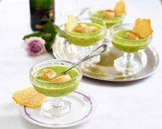 Ärt- och rucolasoppa med pilgrimsmusslor och parmesanflarn | Elle mat & vin » Recept | Bloglovin'