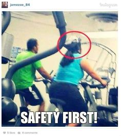 Stationary bikes can be very dangerous...