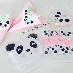 The little Panda Party - Pink , Panda Party Printable Set Panda Birthday Party, Panda Party, 6th Birthday Parties, 1st Birthdays, Baby Birthday, Pink Panda, Panda Love, Cute Panda, Panda Decorations