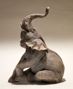 Elephant Sculpture - Nick Mackman Animal Sculpture