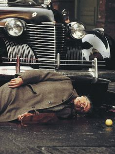 The Godfather - Don Vito Corleone gunned down and lying in the gutter #GangsterMovie #GangsterFlick