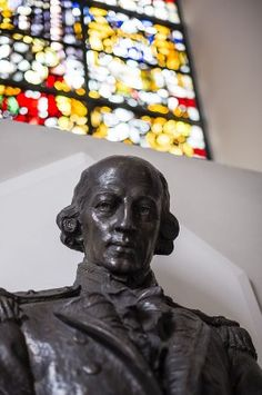 Bust of Admiral Arthur Phillips in St Mary- le- Bow church in London.. Founder of the settlement at Port Jackson (Sydney) Australia, .on this day 26th January, 1788. He was baptised in this church in 1738