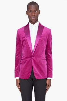 Dsquared2 Fuchsia Silk Trim Velvet tux for men | SSENSE  STYLE ALPHABET