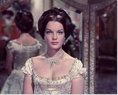 """Romy Schneider was only 17 when she played the title role in """"Sissi"""", a romantic movie about the young Bavarian princess that became the empress of Austria. Description from thefashionbrides.com. I searched for this on bing.com/images"""