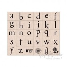 Alfabetstempel - Klassisk, store bokstaver og motiver