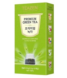 TEAZEN Premium Green Capsule Tea for Nespresso Machine (10-Count Box ) •COMPATIBILITY •EASY TO DRINK •DEEP AND RICH FLAVOR •ALWAYS SAME FLAVOR AND FRAGRANCE •ENJOY COOL ICED TEA ALL YEAR  #tea #capsule #Nespresso #drinkingtea #aroma #flavor #fragrance #cool #korean #koreanproduct