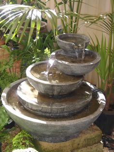 Water Feature - the soothing sound of running water.