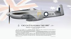 CAC Kangaroo Print by graphicamechanica on DeviantArt Australian Defence Force, Royal Australian Air Force, Experimental Aircraft, Navy Aircraft, Military Equipment, Scale Models, Ww2, Kangaroo, Airplane