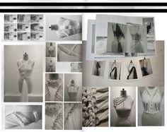 Fashion Portfolio - fashion design development with draping & fabric manipulation experiments; fashion sketchbook