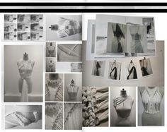Fashion Portfolio - fashion design development with draping & fabric manipulation experiments; fashion sketchbook