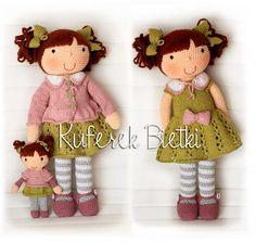 Kuferek Bietki: Augustine - lalka wykonana na szydełku/Augustine, Gehäkelte Puppe