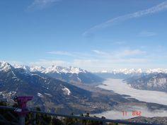 Foto Claudia Costa. Vista do alto do Patscherkofel - área de esqui.