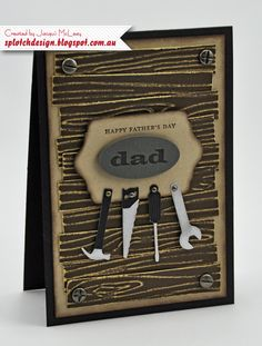 Splotch Design - Jacquii McLeay - Stampin Up - Father's Day Tool Card