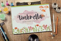 Umbrella is a brush script that is beautiful and unique, it is a model of modern calligraphy typefaces, in combination with a calligraphy brush writing style. Download: http://graphicriver.net/item/font-umbrella-script/10546722?ref=ksioks