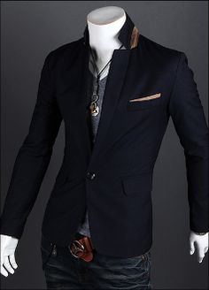 Men's Blazer with Contrasting Details.. This is what AMAZING looks like in the form of a blazer!