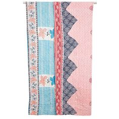 One-of-a-kind Kantha Quilt - Sea Breeze